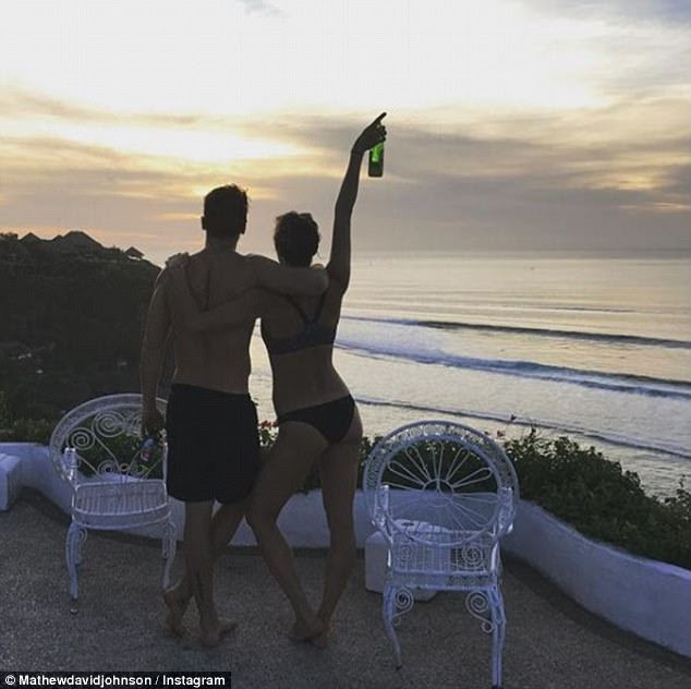 Special moment: The Bachelor lovebirds have been enjoying their first romantic escape overseas since professing their love to one another in the series finale this year