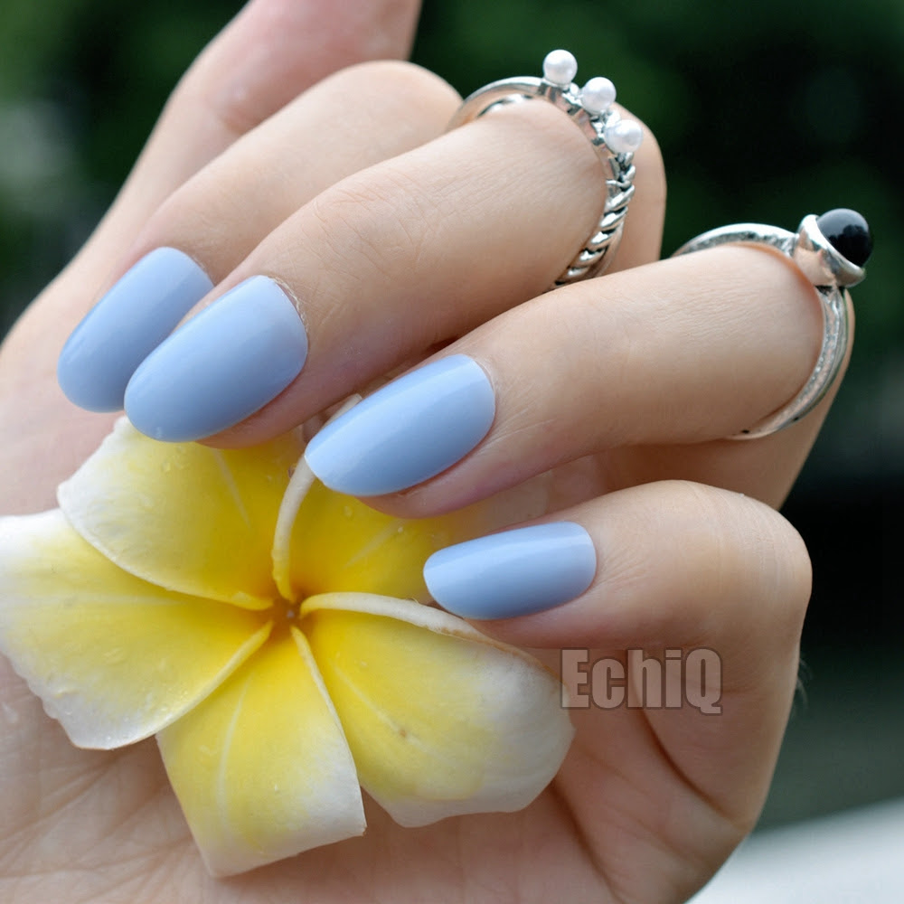 Baby Blue Acrylic Nails Short Nail And Manicure Trends