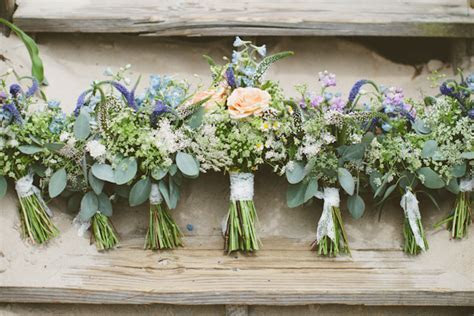 southern wedding wildflower bouquets