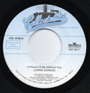 """Lorrie Morgan-A Picture Of Me-Collectables-7"""" Single Vinyl ..."""