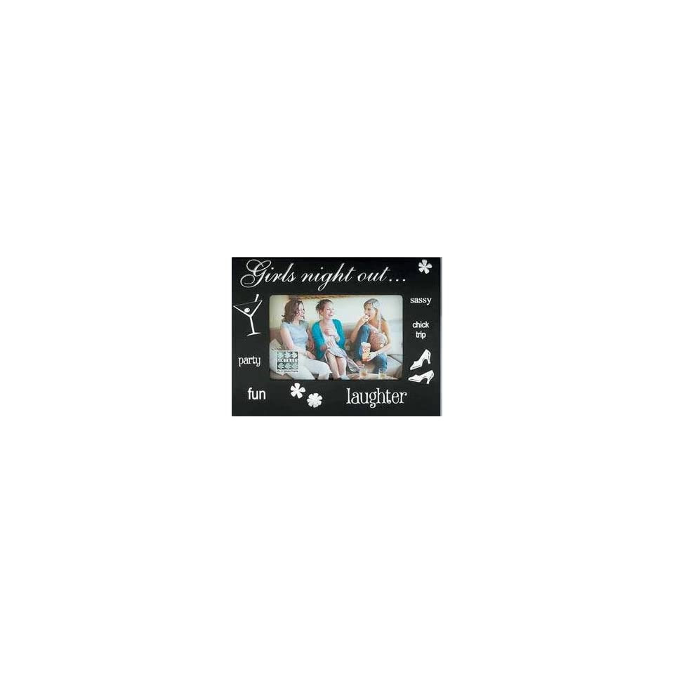 Sixtrees Girls Night Out Jeweled Black Glass 4 Inch By 6 Inch Frame