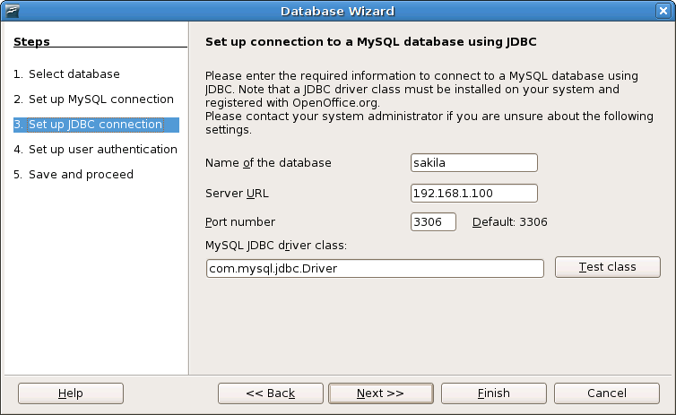 Oo-Database Wizard-Setup-MySQL-jdbc-Connection