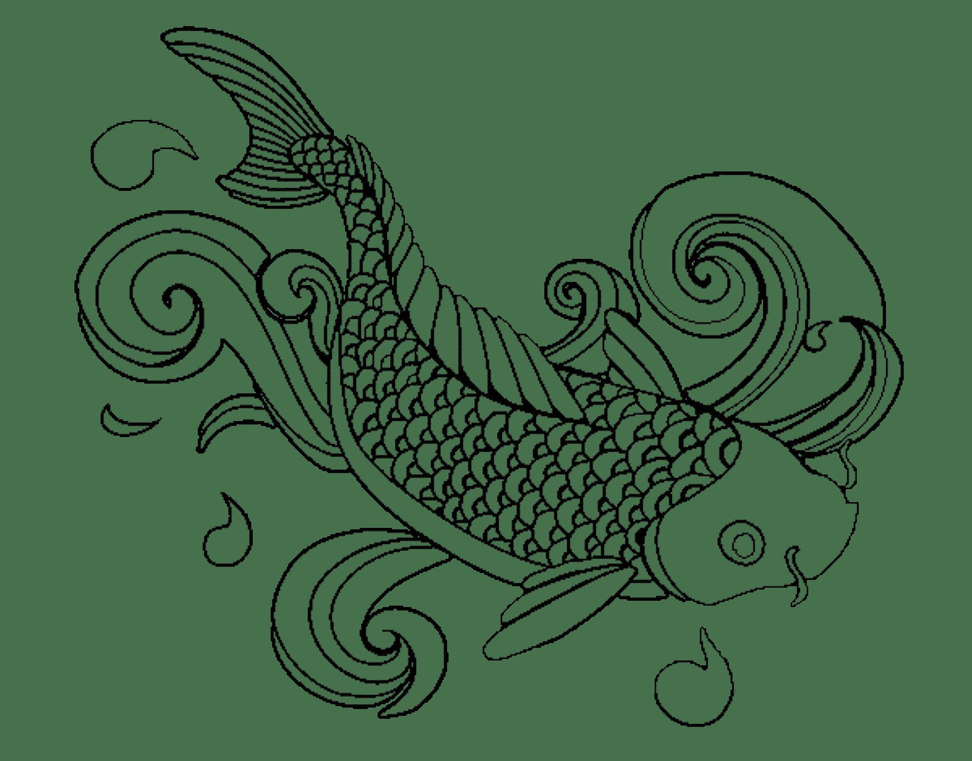 Koi Fish Drawing Outline at GetDrawings   Free download