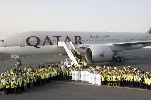 Qatar Plane landed