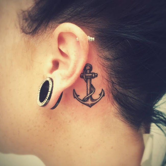 80 Best Behind The Ear Tattoo Designs Meanings Nice Gentle 2018