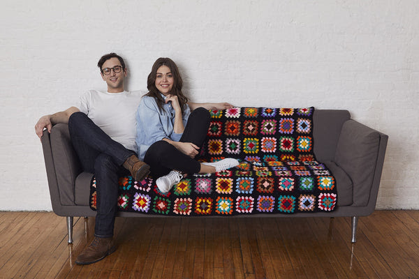 Iconic Granny Couch Afghan Free Crochet Pattern