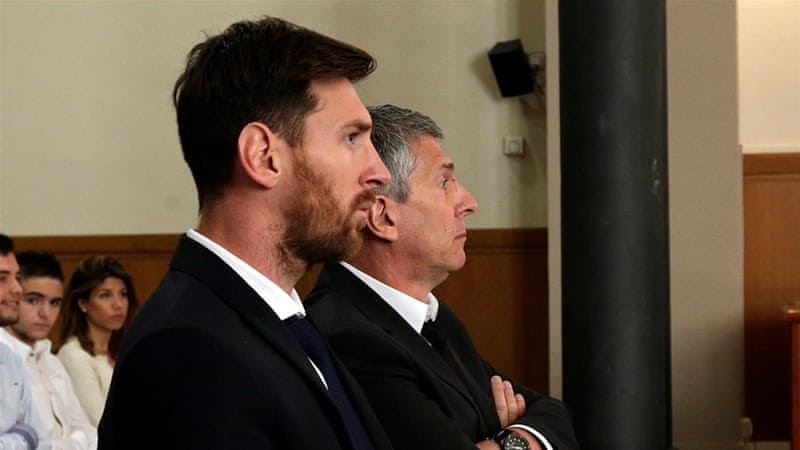 Messi and his father appeared in court last month to testify against charges of tax evasion [Alberto Estevez/Reuters]