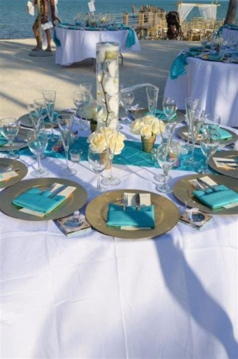 59 best Aqua Beach Wedding Inspiration images on Pinterest