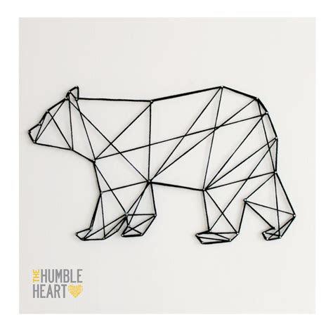 geometric bear ideas  pinterest geometric