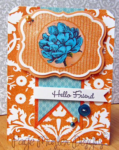 Hello friend orange blue tea flower