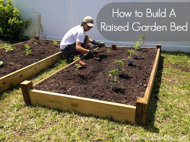 Part 2} How to Build A Raised Garden Bed | Sew Woodsy