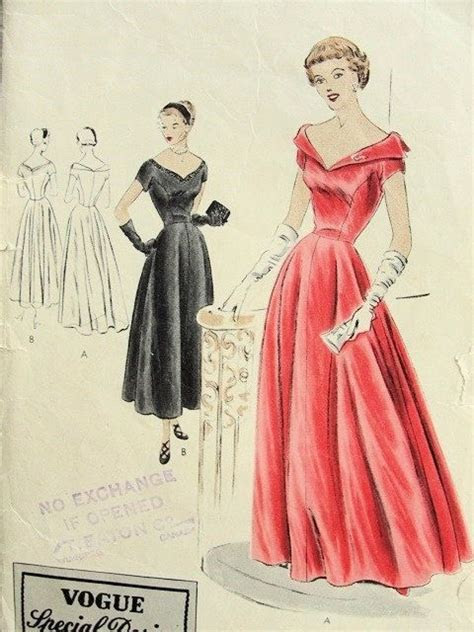 1940s Vogue Special Design 4042 Evening Gown Formal Party