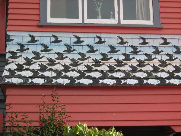 Fachada Escher em Wellington Nova Zelândia