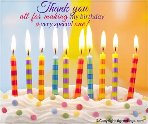 Birthday Thank You Quote Cards   Greetings Wishes and more
