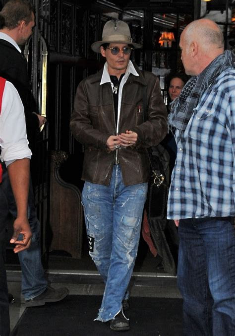johnny depp  ripped  patched baggy jeans denimology