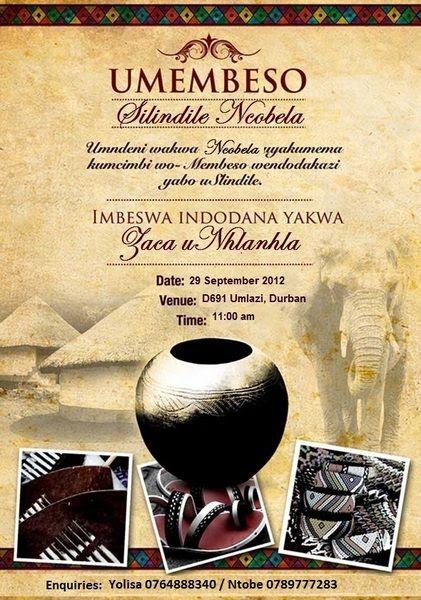 Beautiful customizable Zulu South African Umembeso Card: | Zulu ...