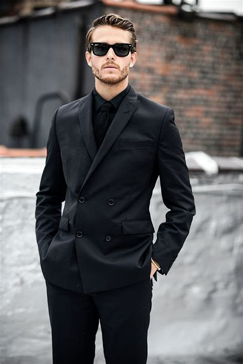 black suit fashion ideas  men