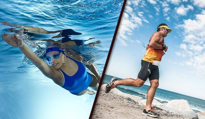 EU atleta Turibio Nadar e Correr (Foto: Editoria de Arte)