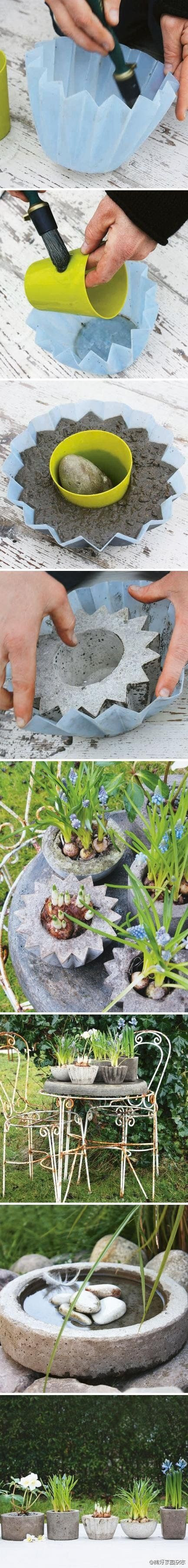 Concrete casting by joybx: something to try this summer with printed forms/molds ♥Follow us♥