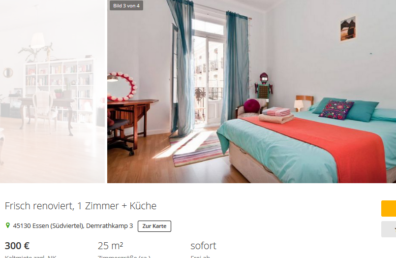marco s 63 frisch renoviert 1 zimmer k che 45130 essen. Black Bedroom Furniture Sets. Home Design Ideas