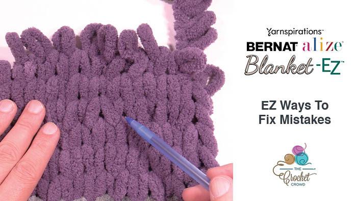 Finger Knitting Blanket With Loop Yarn