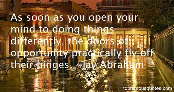 Doors Of Opportunity Quotes Best 5 Famous Quotes About Doors Of