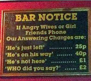 bar notice