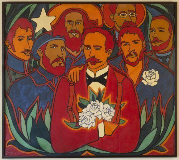 Rosas y Estrellas. Pintura de Raúl Martínez