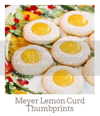 """Meyer Lemon Curd Thumbprints"""