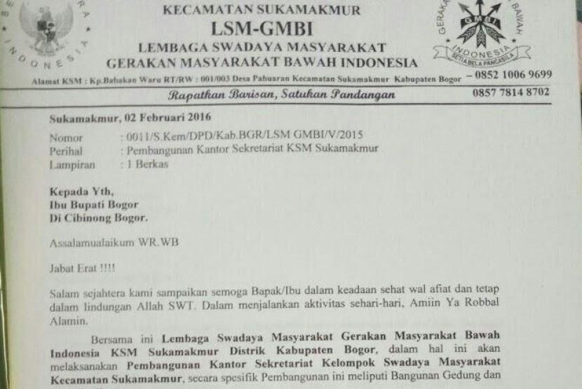 HEBOH! Ajukan Propsal, Anggota GMBI Minta Dana 225 Juta ke Bupati Bogor | Ormas Minta Uang