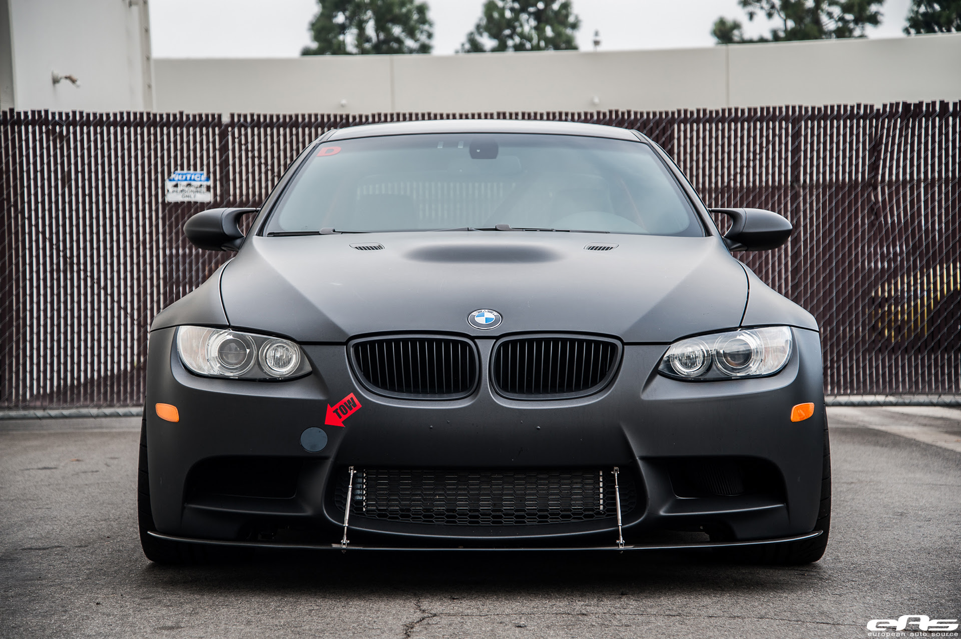 Matte Black Bmw E92 M3 Supercharged