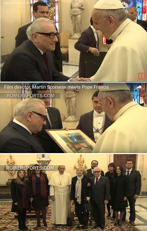 Pope receives Scorsese 1