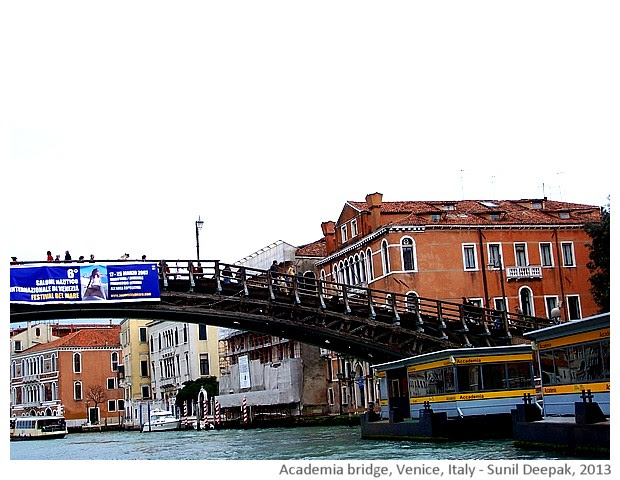 Venice walking tour, Academia bridge, Italy - images by Sunil Deepak