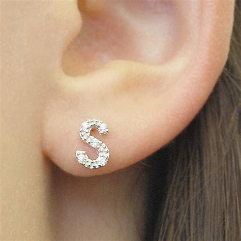 personalised jewellery silver letter earrings by otis