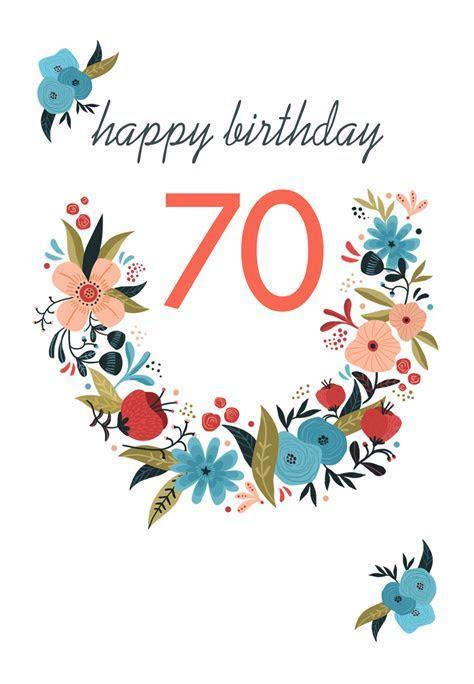 Floral 70   Free Birthday Card   Greetings Island