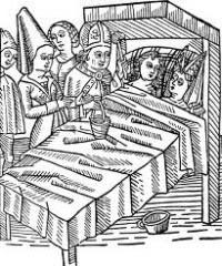 Consumación del matrimonio ante cortesanos y sacerdotes en la edad media