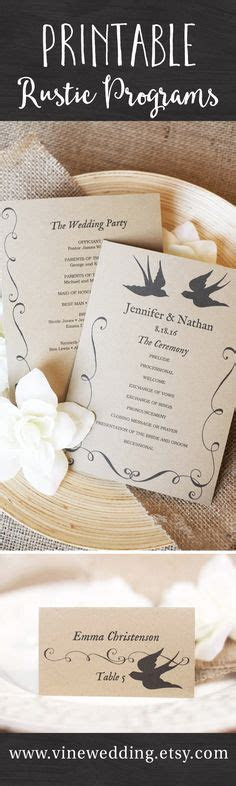 ideas  wedding program templates  pinterest