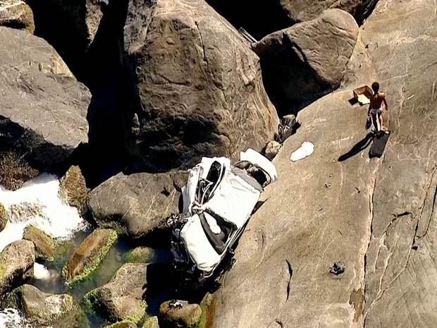 O acidente aconteceu na Avenida Estado da Guanabara. (Foto: Reprodução/ TV Globo)