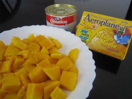 Mango Pudding Ingredients 芒果布甸用料