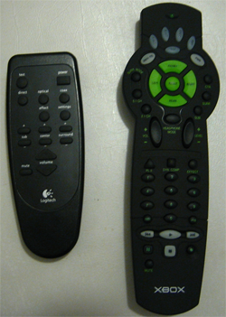 SphereX and Logitech Z-5500 remotes