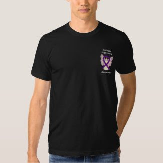 Retinitis Pigmentosa Awareness Ribbon Angel Shirts