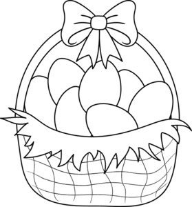 Easter Egg Basket Drawing At Getdrawingscom Free For Personal Use