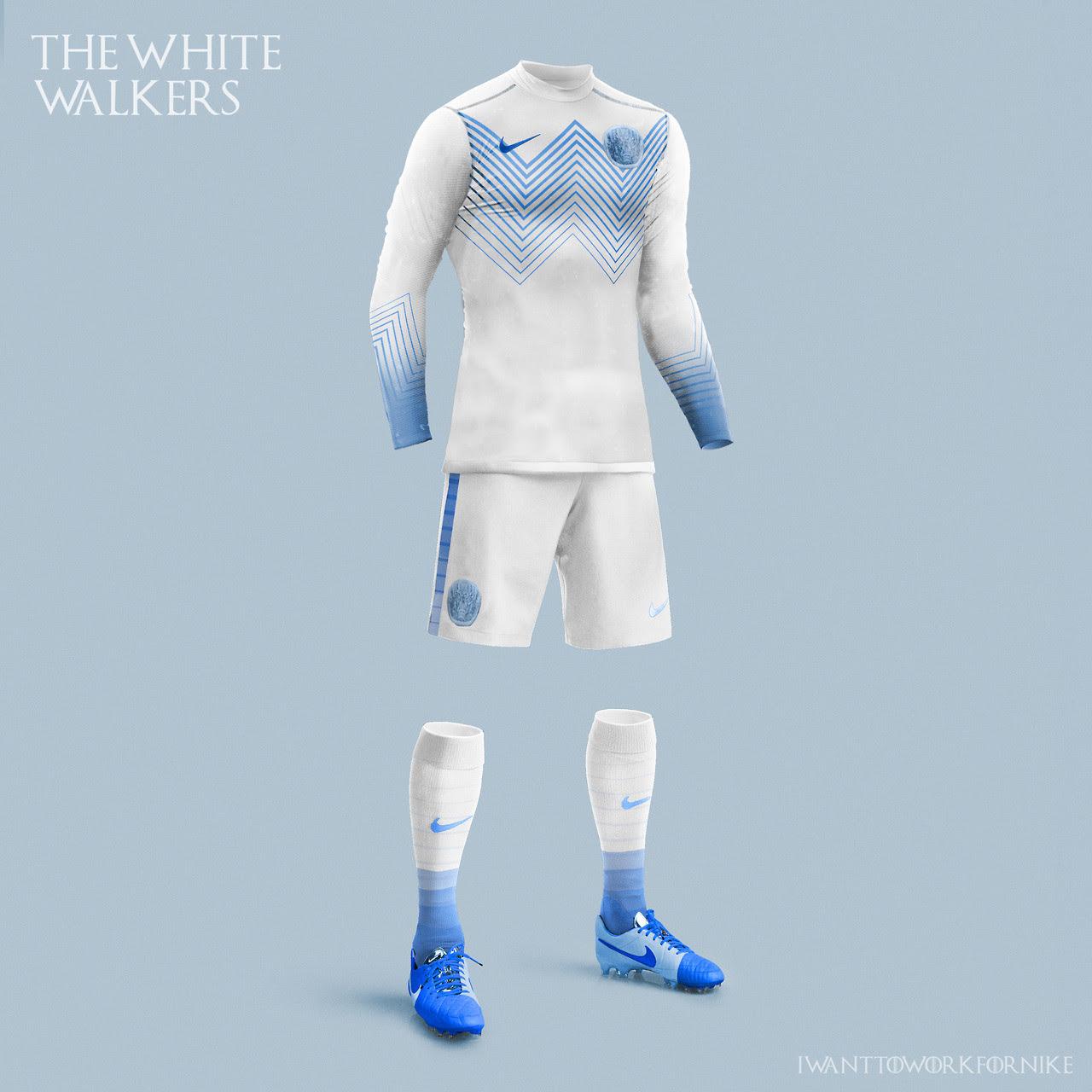 Equipaciones futboleras tipo Juego de Tronos - Caminantes Blancos