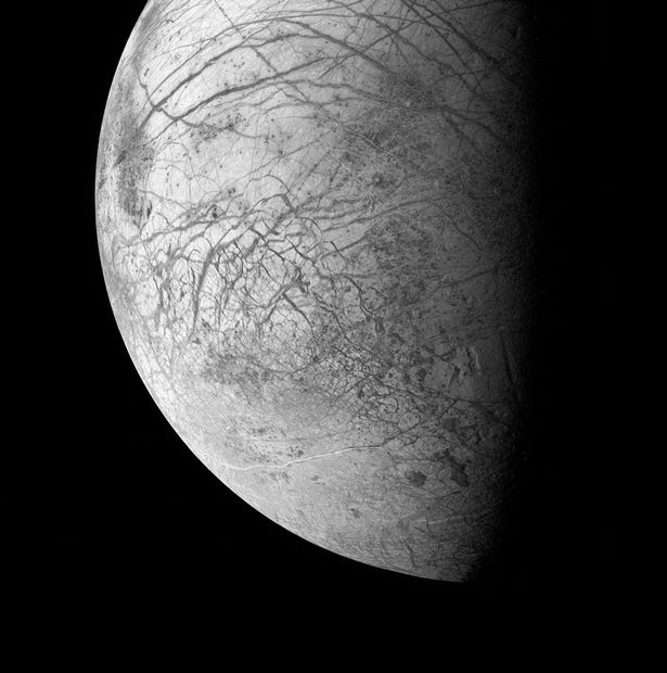 Europa, an ice-covered ocean moon