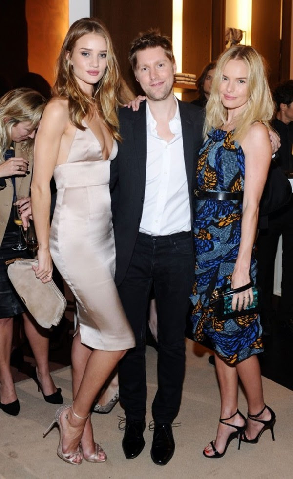 9g Rosie Huntinton-Whiteley, Christopher Bailey and Kate Bosworth in Burberry at the Burberry Body event in LA2