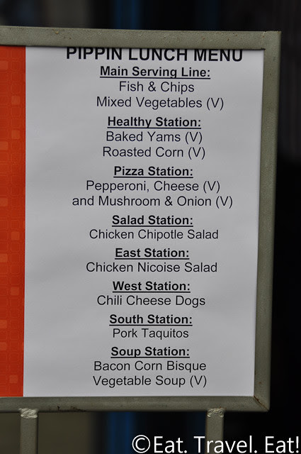 UC Irvine Pippin Commons- Irvine, CA: Lunch Menu