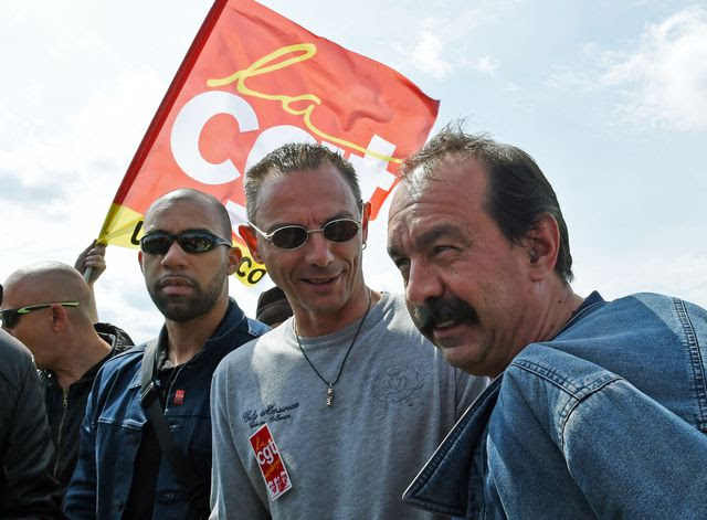 The secretary general  of the CGT, Philippe Martinez, Philippe Martinez  on his arrival May 21, 2016 in Douchy-les-Mines.