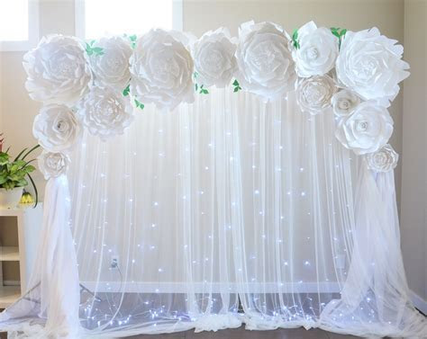 Wedding backdrop by Seattle Giant Flowers. Peony backdrop