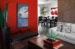 Red Accent Wall Living Room | Simple Home Decoration