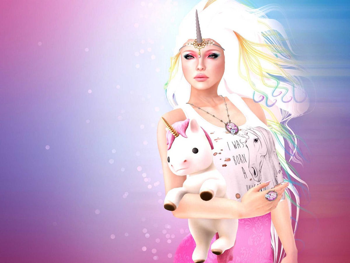 unicorn woman soft toy stuffed rainbow